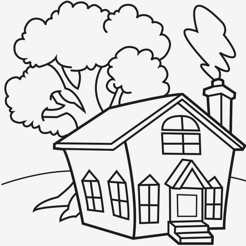 House Coloring Pages: Free Printable House Coloring Pages