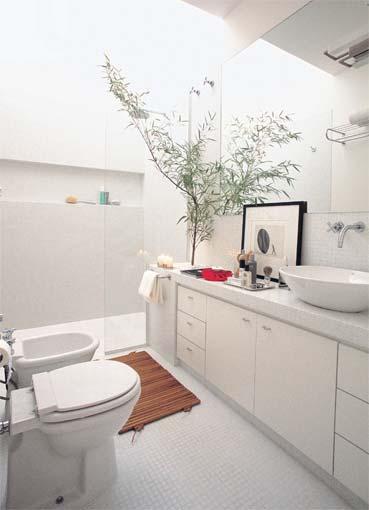 Decorar com Diversão Dicas para Decorar Banheiros Pequenos -> Banheiro Pequeno Branco