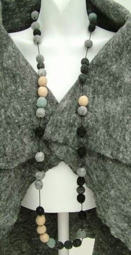 felt beaded necklace by Rebecca Dallas