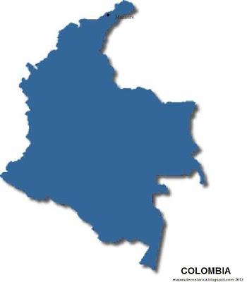 Silueta de  COLOMBIA