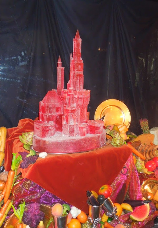 Maleficent Royal banquet castle ice sculpture prop