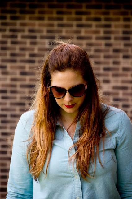 fashion blogger Lipstick and chiffon