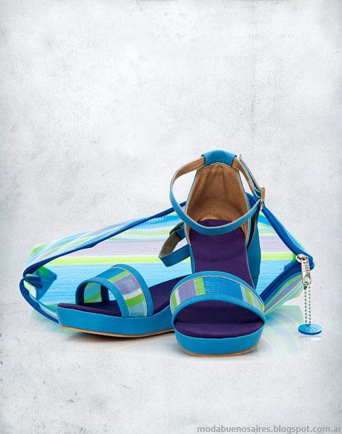 Valeria NIcali sandalias de colores moda verano 2014. Valeria NIcali 2014
