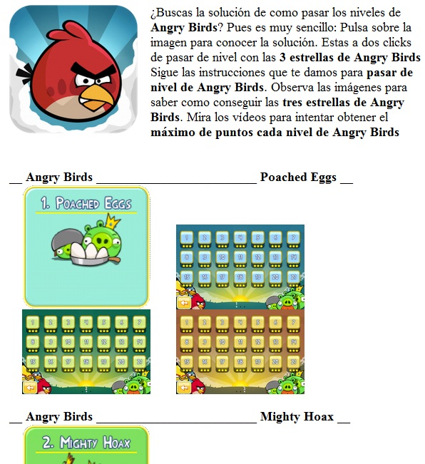 Angry Birds solucion