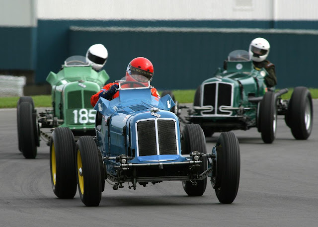Pre War Racing Cars racing at Donington Park