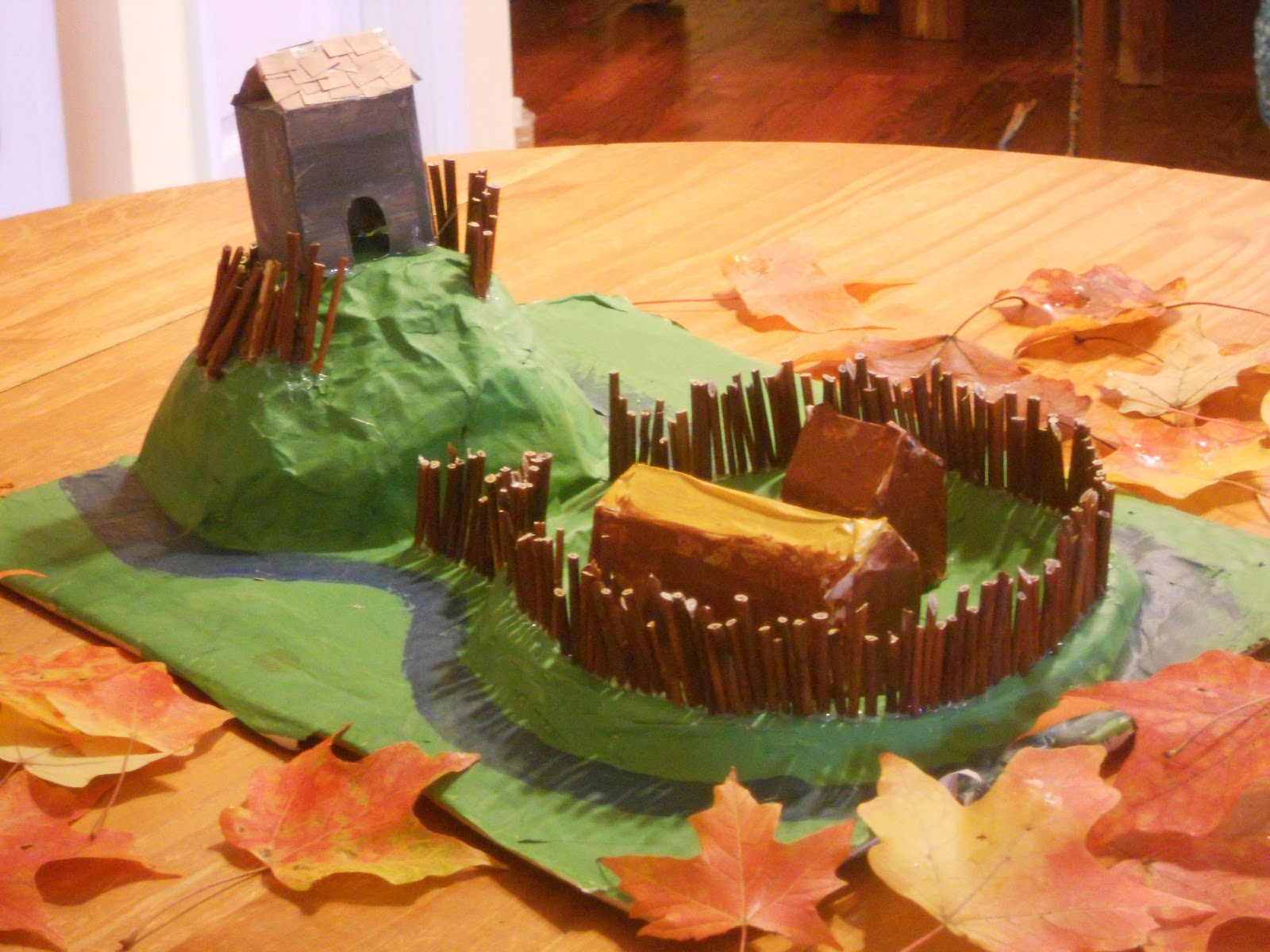 how to build paper mache land model