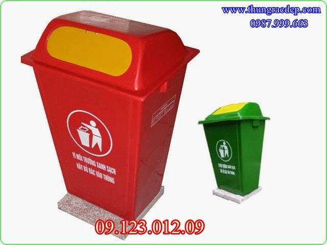 thùng rác nhựa có đế
