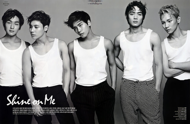 shinee l'officiel hommes magazine march 2013