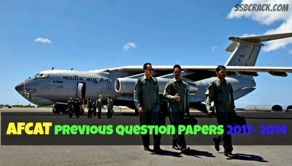 AFCAT Previous Question Papers 2011- 2015