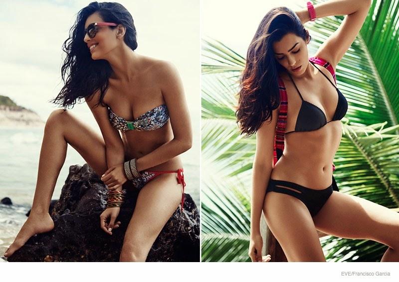 Ingrid Villas Boas  is seductive for the Eve Swimwear 2015 Campaign