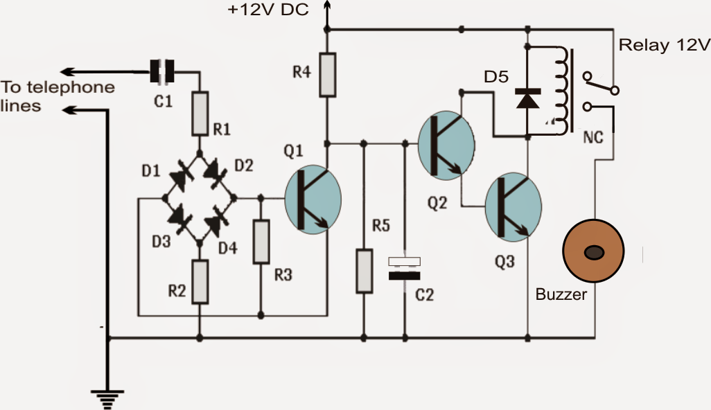 Telephone Ring Amplifier/Repeater extension Circuit