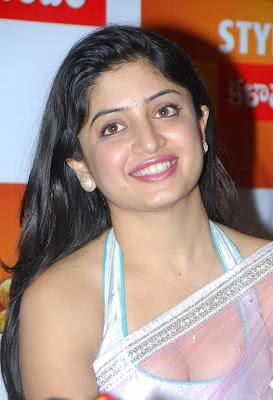 Poonam Kaur Hot Boob Show in Transparent Saree