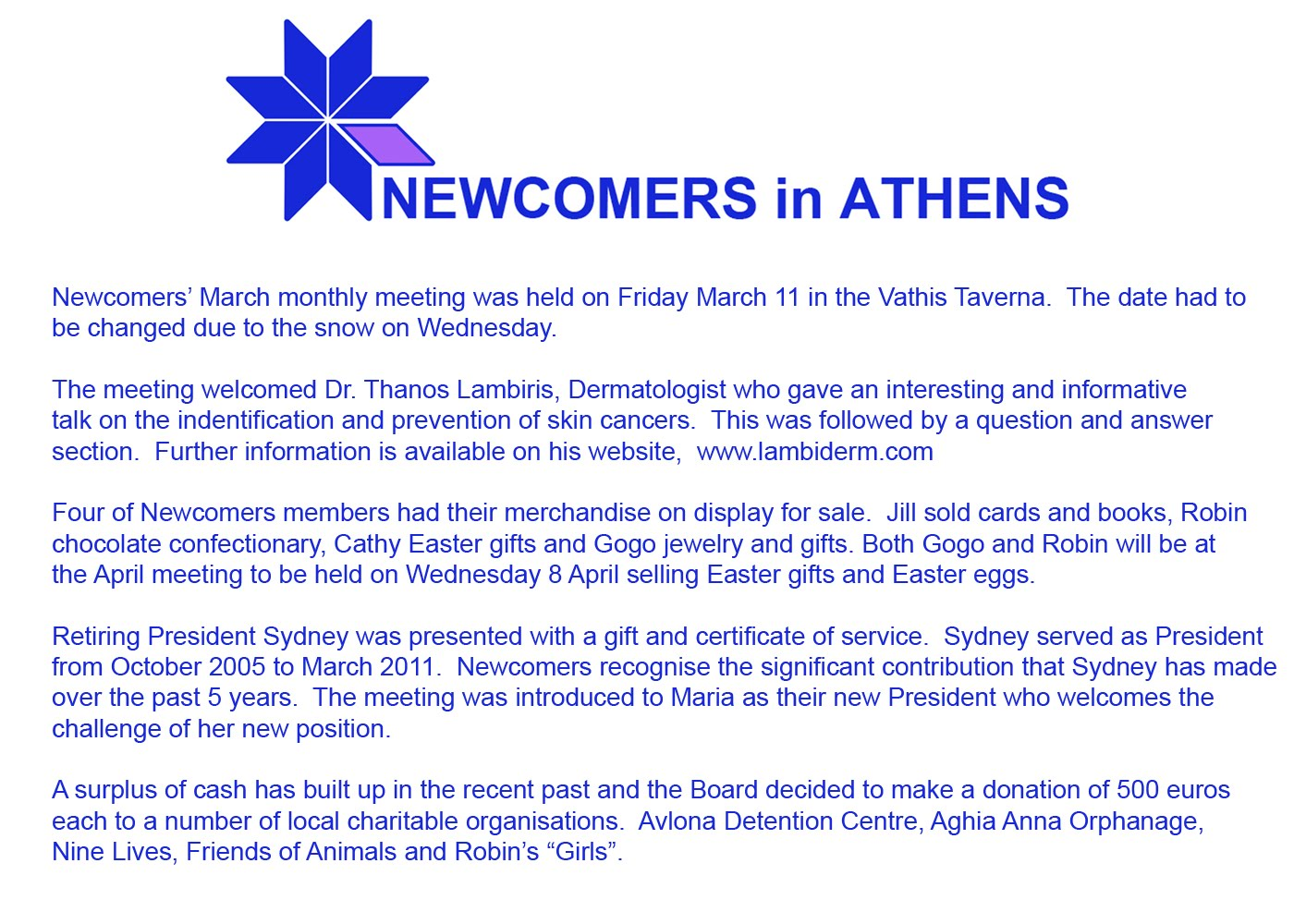 Newcomers in athens march meeting friday 11 march 2011 negle Images