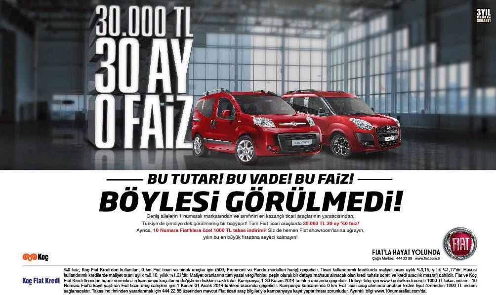 Fiat'tan fırsatlar devam ediyor