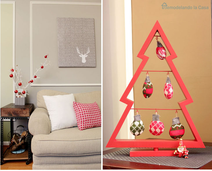 small Christmas tree decor for table