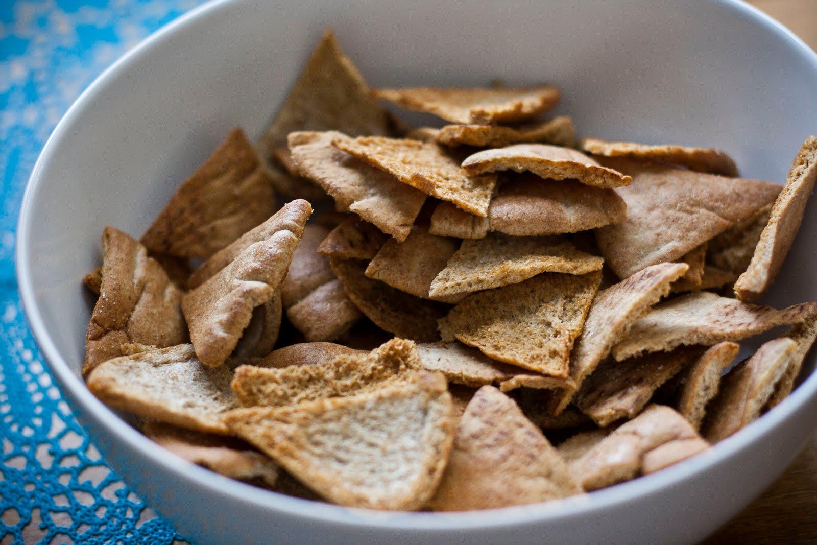 Homemade Pita Chips- SO easy   Honey & Brie