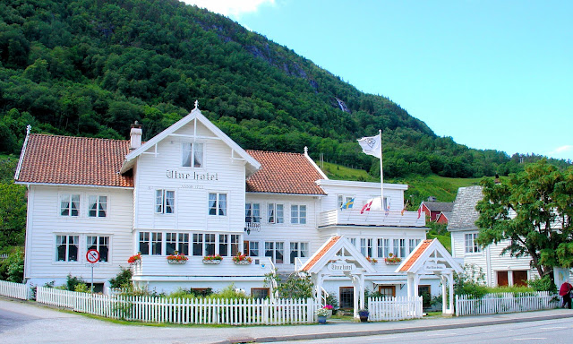 The Utne Hotel located in Utne, Norway along the Hardangerfjord. Photo: EuroTravelogue™.
