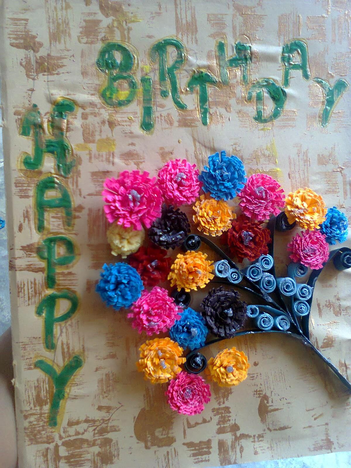 lovelycreativity birthday card with texture, Birthday card