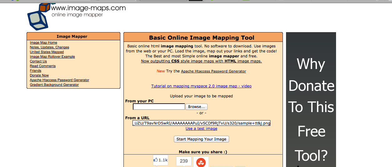 Using Image-Maps to Link Multiple URLs to Just One Image and why that.