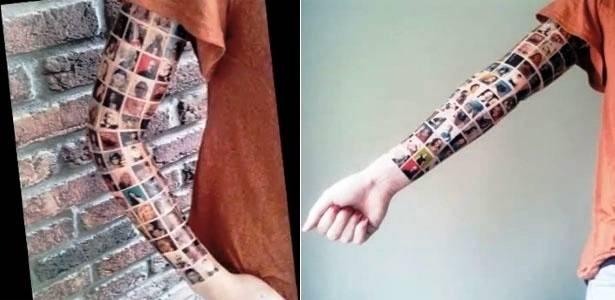 Tatuagem dos amigos do Facebook