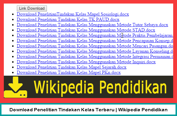 Download Penelitian Tindakan Kelas Terbaru | Wikipedia Pendidikan