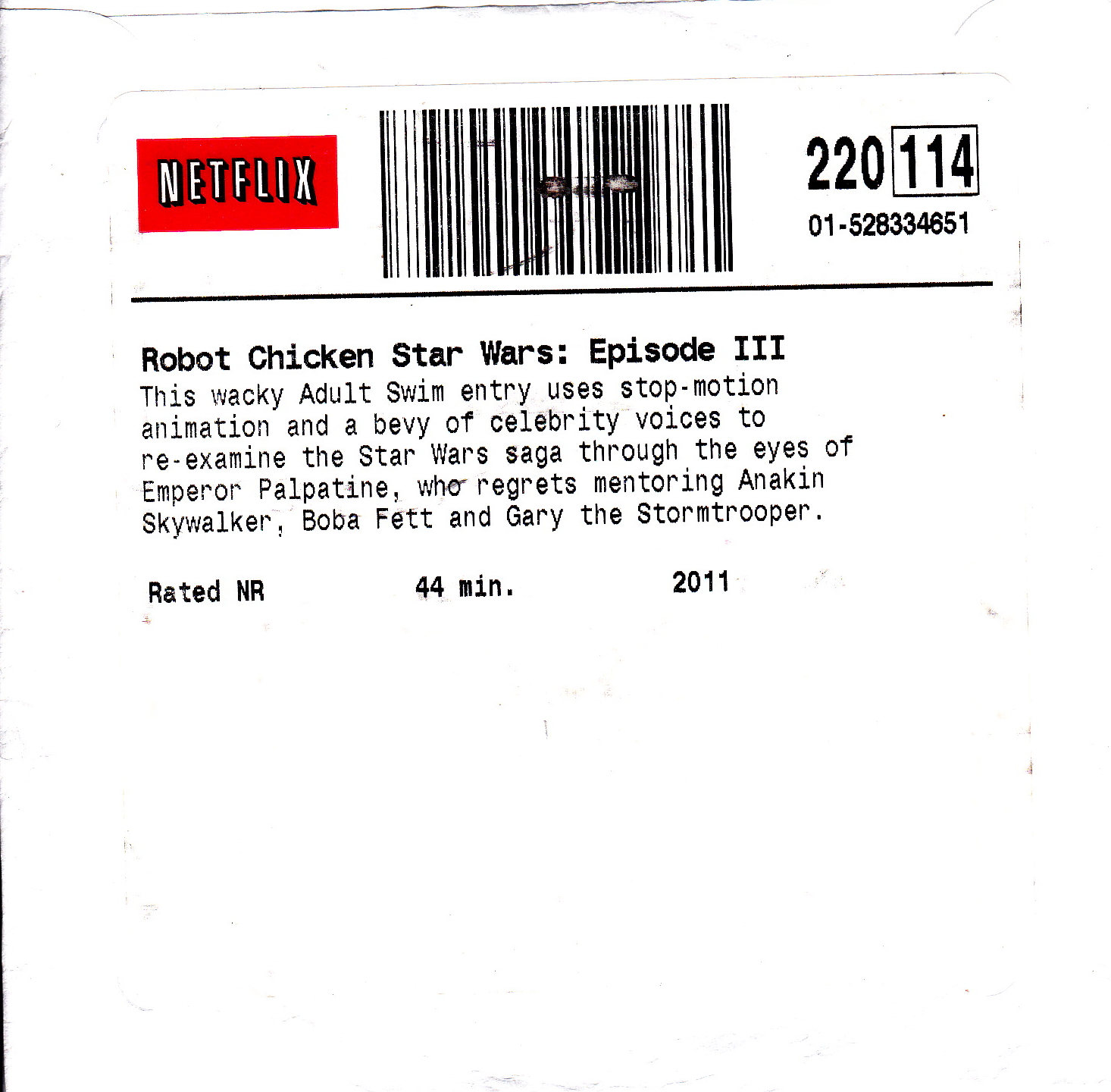 Star Wars Love Quotes My Life Scanned Robot Chicken Star Wars Episode Iii Dvd Robot