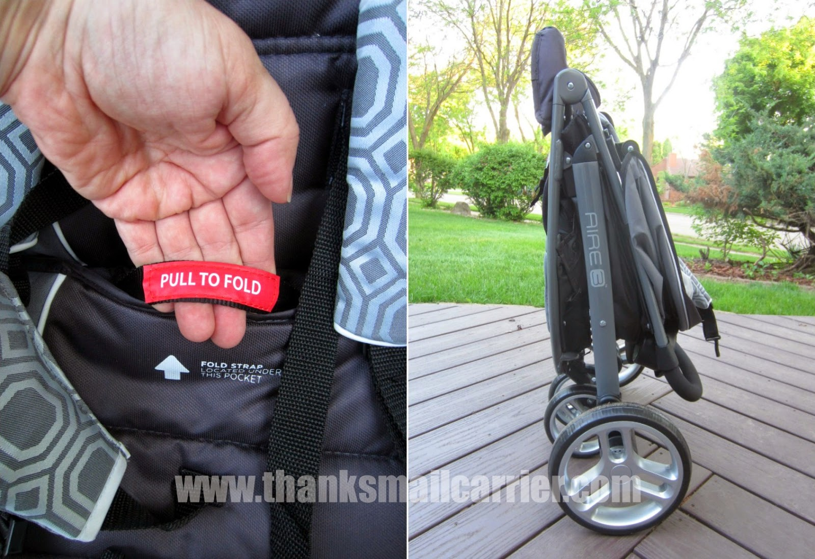 Graco Aire3 stroller fold
