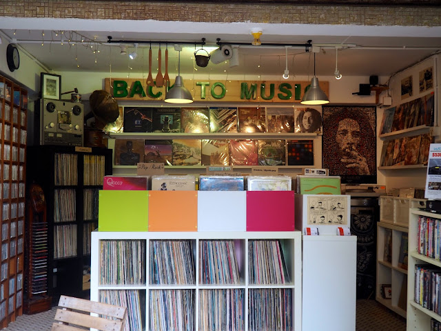 Record & music shop in Yung Shue Wan, Lamma Island, Hong Kong