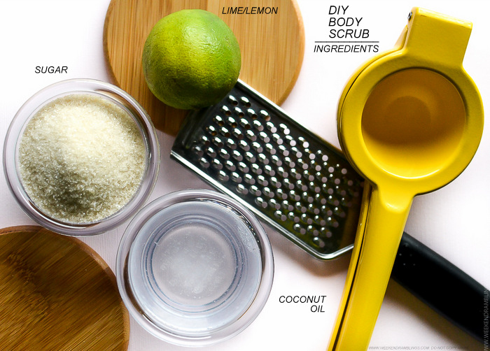 Easy DIY Home Made Sugar Coconut Oil Lime Body Hand Foot Scrub
