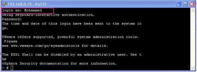 Auditing User Logins and commands in ESXi