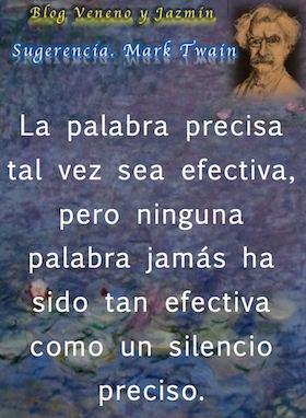 Silencio preciso, Mark Twain