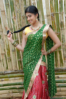 Pranitha latest  saree stills 03.jpg