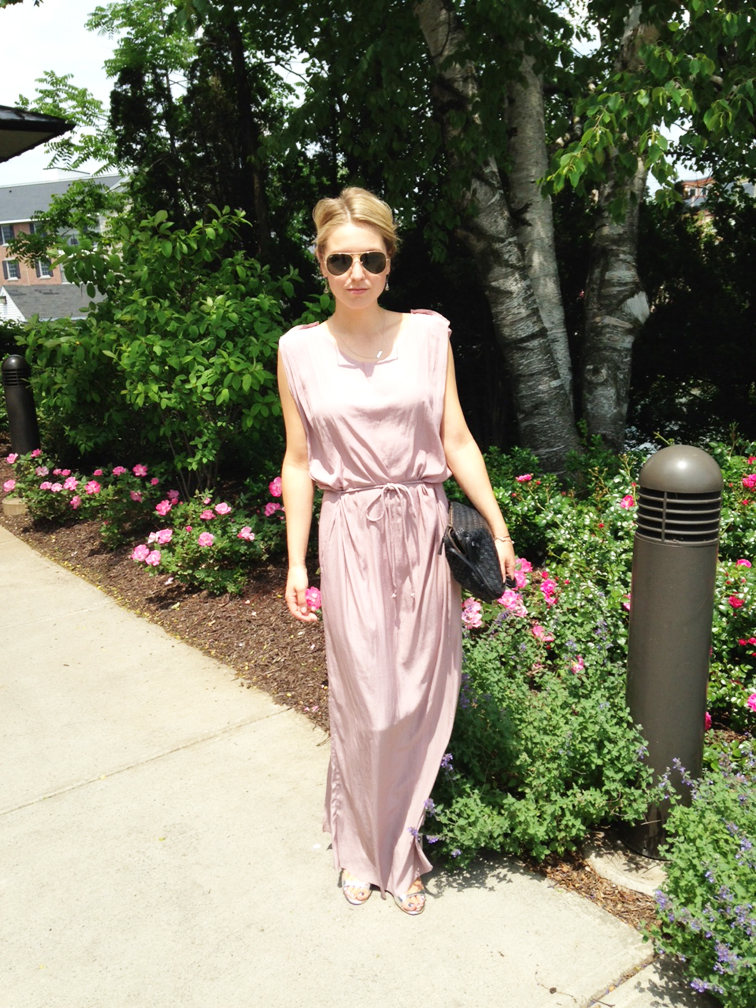 Wedding Guest Look Acne Lilac Maxi Dress