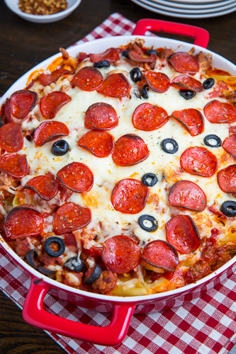 Pepperoni Pizza Casserole on Closet Cooking