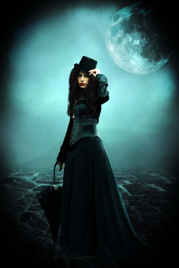 who painted the moon black  by queerangel8900 d36rrai Masterful Examples of Dark Photo Manipulation Art