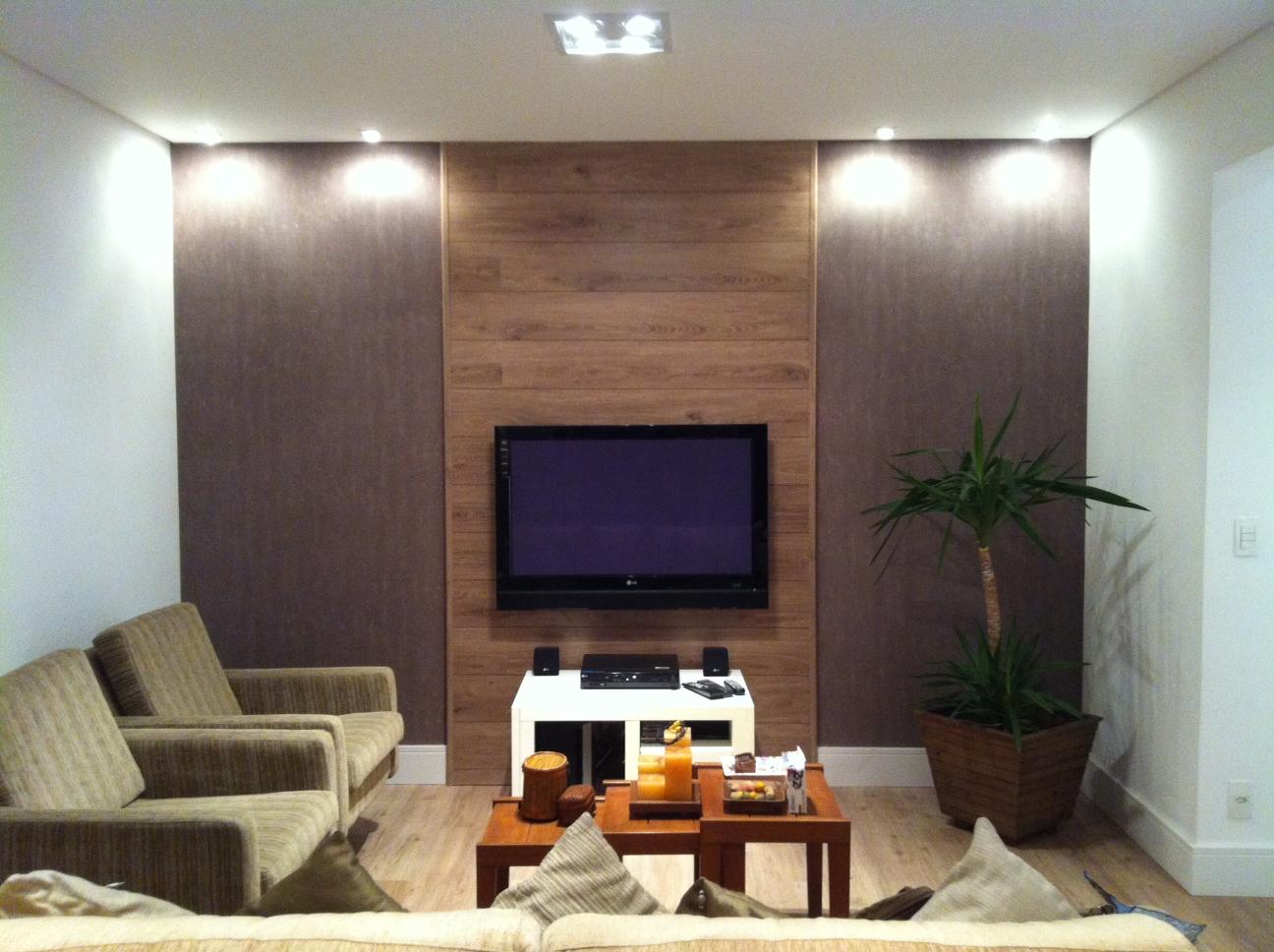 painel para tv de lcd led plasma e 3d utilizamos o piso durafloor  #A45E27 1296x968