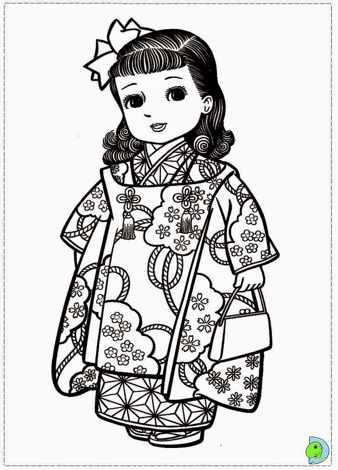 free coloring pages japanese girls - photo#38