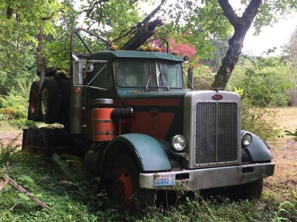1970 Peterbilt Log Truck And Trailer - Old Truck