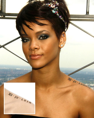 Rihanna Tattoos on Rihanna Tattoos