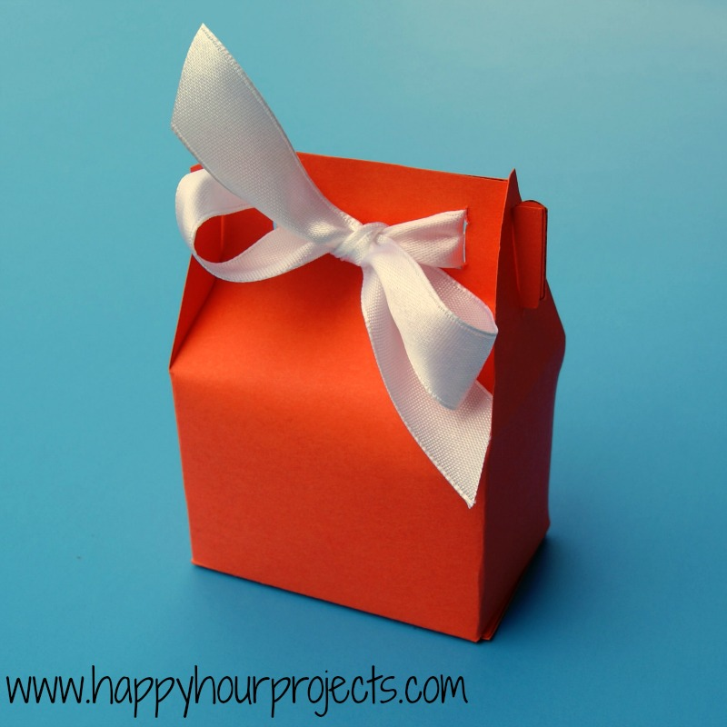 Paper Treat Box Happy Hour Projects