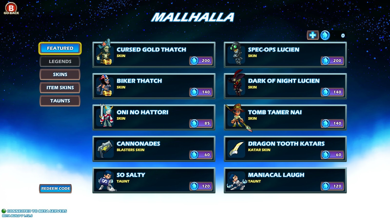 brawlhalla item codes