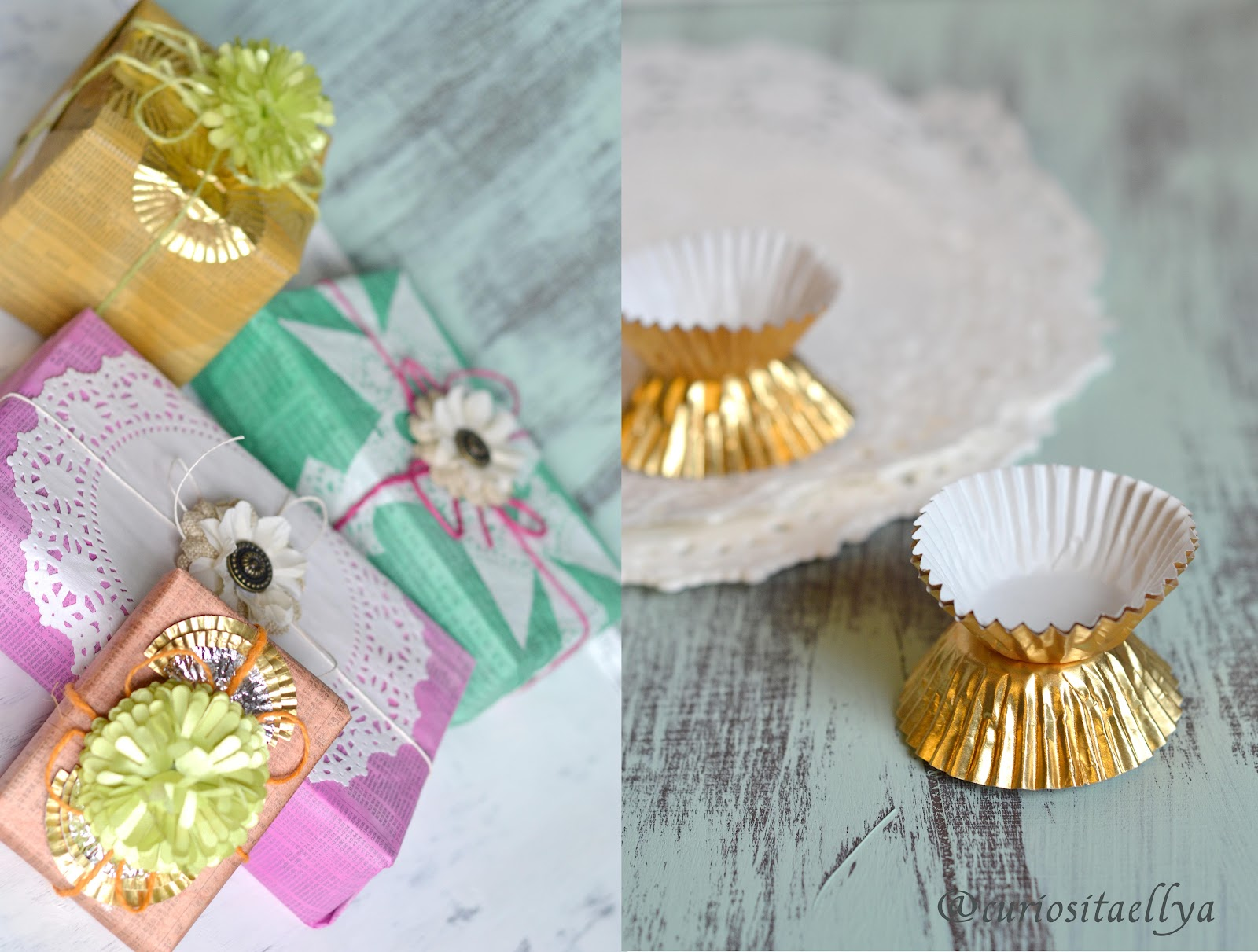 CuriositaellyaCup Cake Liner and Decorative Doilies Gift Wrap
