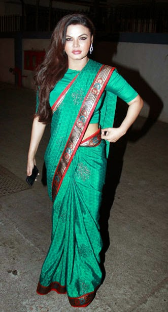 Rakhi Sawant in Saree
