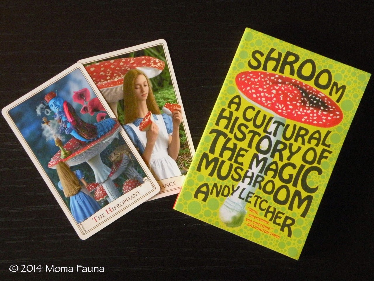 Day 1: Cards from Prague: The Alice Tarot. Day 2: Shroom: a mystery gift from a kindred spirit.