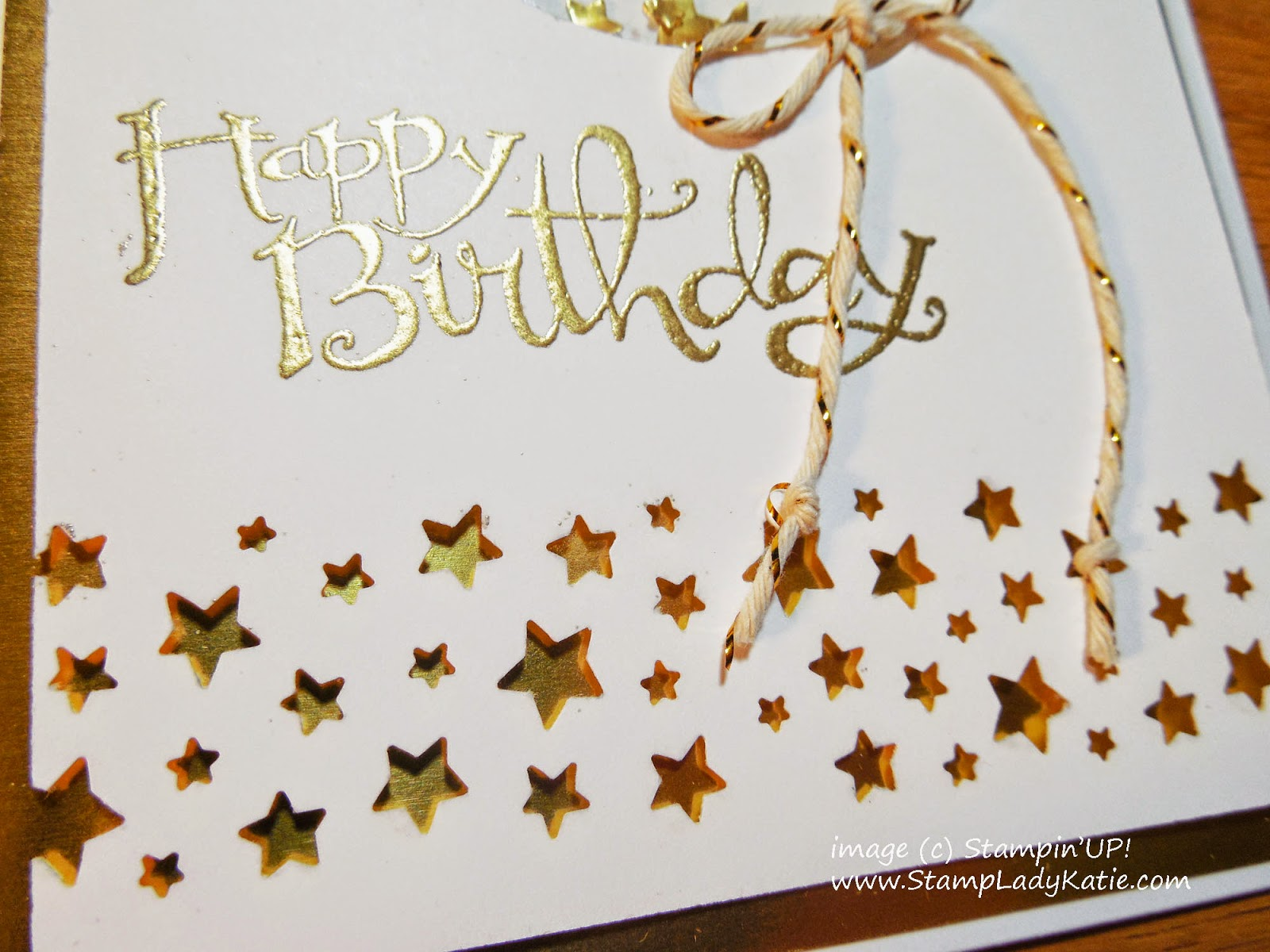 Star border punched with Stampin'UP!'s Confetti Stars Border Punch