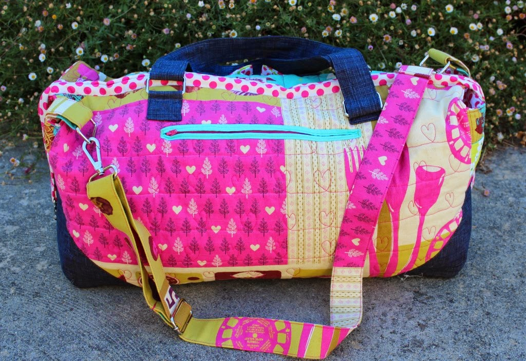 free motion quilting The Betsy Bag
