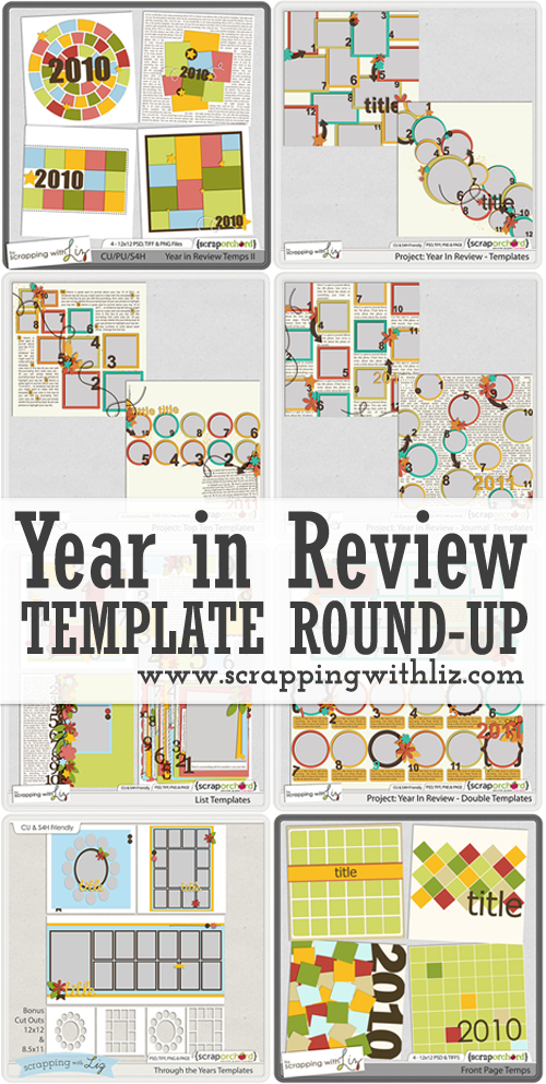 Scrapping with Liz: Year In Review Round Up