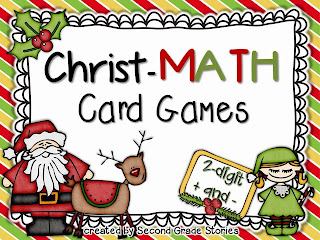 http://www.teacherspayteachers.com/Product/Christ-MATH-Card-games-addition-math-games-for-Christmas-1000130
