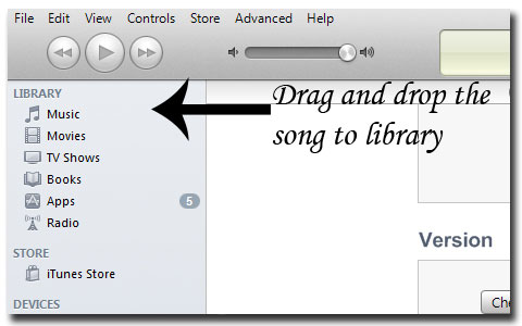how to add songs to iphone from laptop
