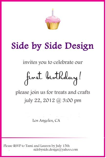 side by side design a blog birthday party